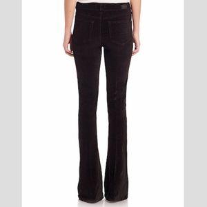 Paige denim black velvet boot cut jeans